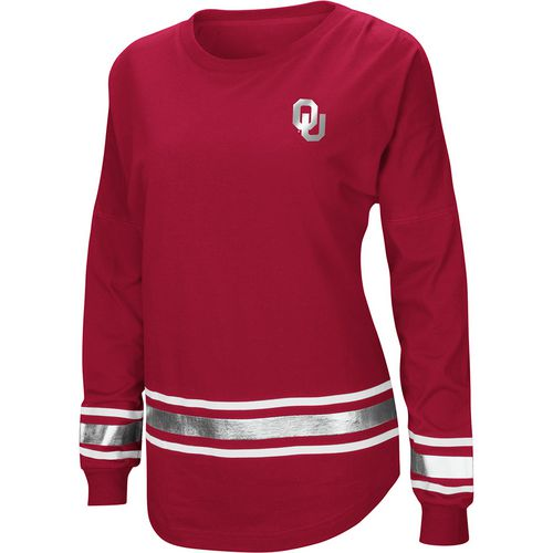 Colosseum Athletics Women's University of Oklahoma Humperdinck Oversize Long Sleeve T-shirt