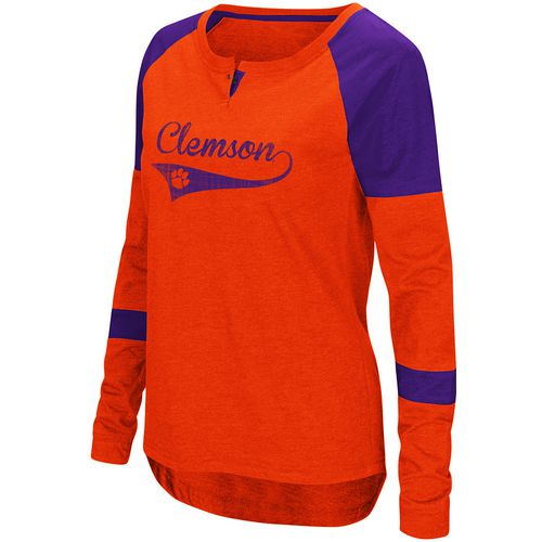 Colosseum Athletics Women's Clemson University Routine Raglan T-shirt