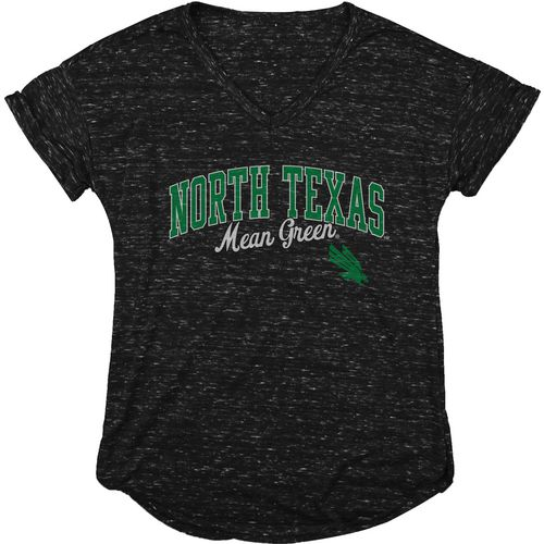 Blue 84 Women's University of North Texas Dark Confetti V-neck T-shirt - view number 1