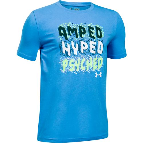 Under Armour Boys' Amped Hyped Psyched Short Sleeve T-Shirt