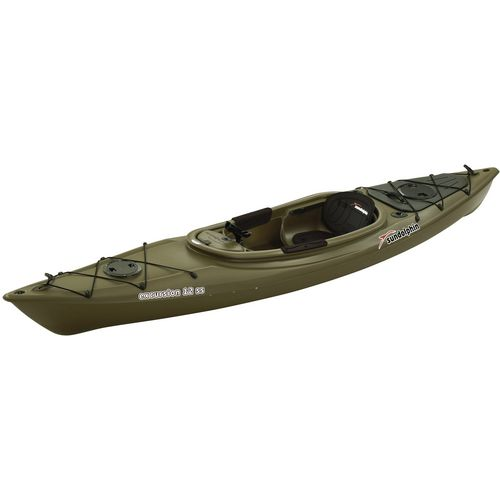 Sun dolphin excursion ss 12 ft fishing kayak academy for Fishing kayak academy