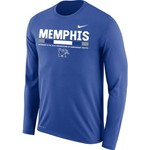 Nike Men's University of Memphis Dri-FIT Legend 2.0 Short Sleeve T-shirt - view number 1