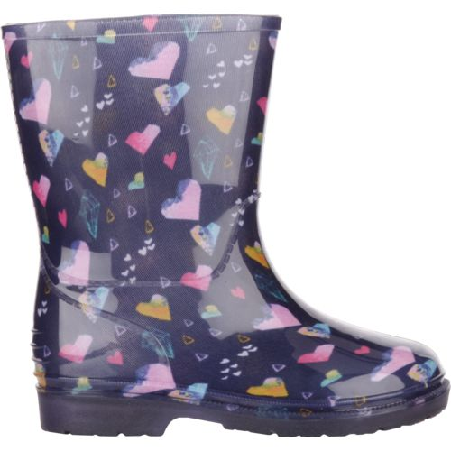 Austin Trading Co. Girls' Light-Up Hearts PVC Boots