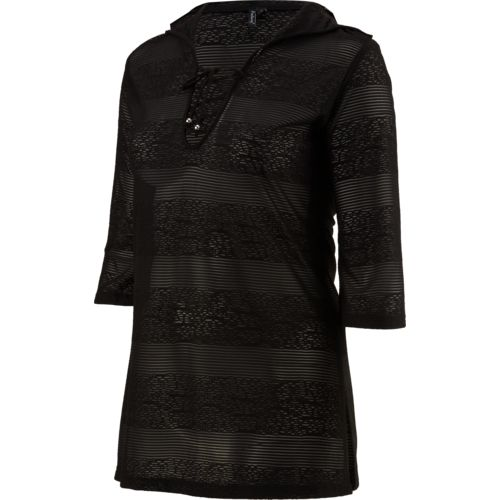 Porto Cruz Women's Hooded Lace-Up Cover-Up Tunic - view number 1