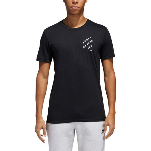 adidas Men's Three Stripe Life OP ART T-shirt - view number 2