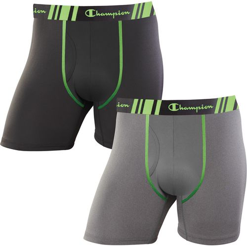 Champion Men's Tech Performance Regular Leg Boxer Briefs 2-Pack