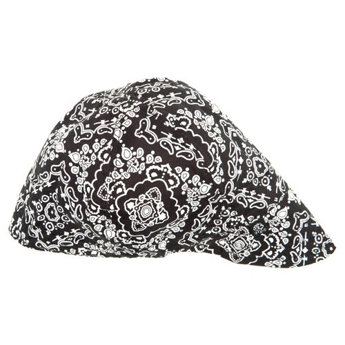 ZANHeadgear® Adults' Black Paisley Pattern Welder's Cap