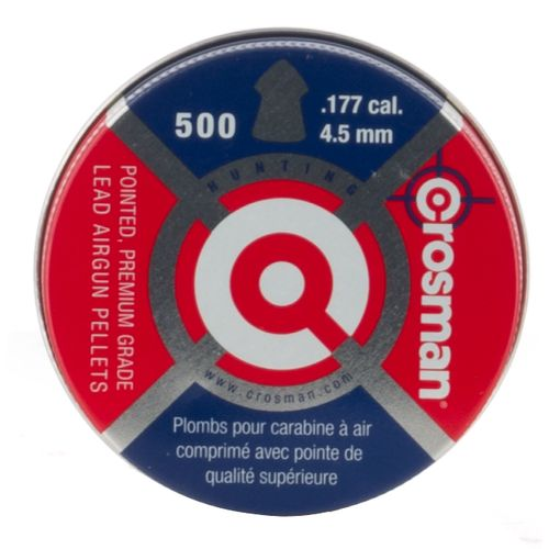 Crosman Pointed Pellets .177 7.4-Grain Air Gun Ammunition