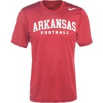 Nike Men's University of Arkansas Practice Legend Authentic Font T-shirt