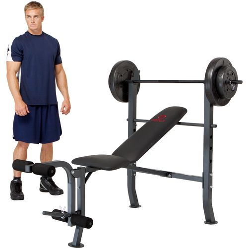 Marcy diamond elite standard bench with 80 lb weight set academy Academy weight bench