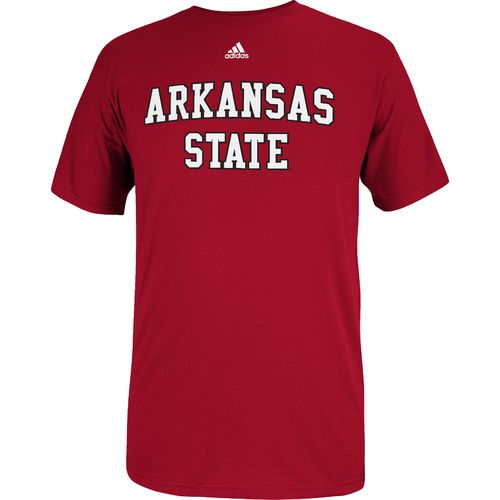 adidas Men's Arkansas State University Team Font Short Sleeve T-shirt