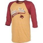 OVB Men's Texas State University Third Base 3/4 Length Raglan Sleeve T-shirt