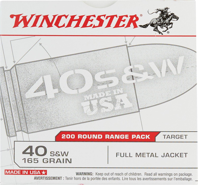 Winchester .40 S&W  165-Grain FMJ 200-round Centerfire Pistol  Ammunition