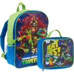 Nickelodeon Boys' Teenage Mutant Ninja Turtles Backpack with Lunch Kit
