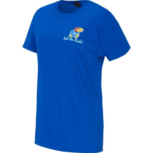 New World Graphics Women's University of Kansas Bright Bow T-shirt