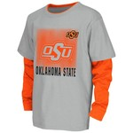 Colosseum Athletics Kids' Oklahoma State University Flanker Long Sleeve Layer T-shirt