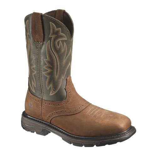 Wolverine Men's Javelina High Plains Western Steel-Toe EH Wellington Work Boots