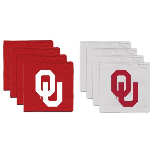 BAGGO® University of Oklahoma 9.5 oz. Replacement Beanbag Toss Beanbags 8-Pack