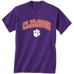 New World Graphics Men's Clemson University Arch Mascot T-shirt