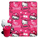 The Northwest Company Tennessee Titans Hello Kitty Hugger and Fleece Throw Set