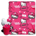 The Northwest Company Carolina Panthers Hello Kitty Hugger and Fleece Throw Set