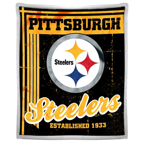 The Northwest Company Pittsburgh Steelers Old School Mink with Sherpa Throw