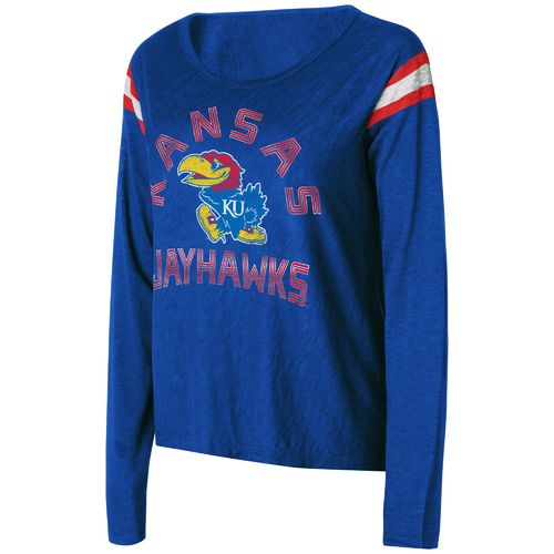 Touch by Alyssa Milano Women's University of Kansas Cascade Long Sleeve T-shirt
