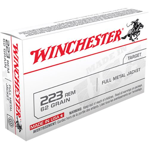 Winchester Best Value USA .223 Remington/5.56 NATO 62-Grain FMJ Centerfire Rifle Ammunition
