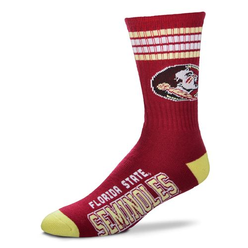 FBF Originals Adults' Florida State University 4-Stripe Deuce Socks
