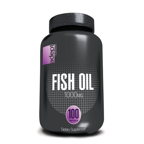 Adept Nutrition 1,000 mg Fish Oil Capsules