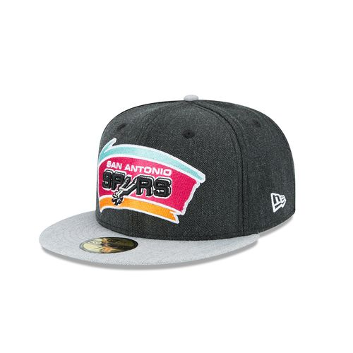 New Era Adults' San Antonio Spurs 59FIFTY Heather Action Cap