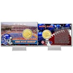 The Highland Mint Boise State University Minted Bronze Coin Card