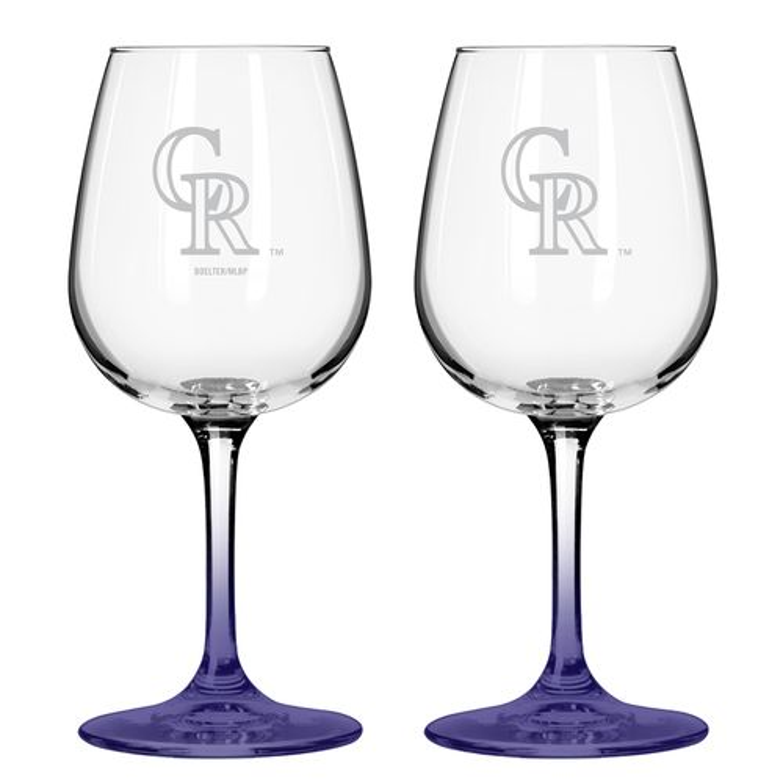 Boelter Brands Colorado Rockies 12 oz. Wine Glasses