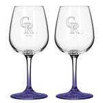 Boelter Brands Colorado Rockies 12 oz. Wine Glasses 2-Pack