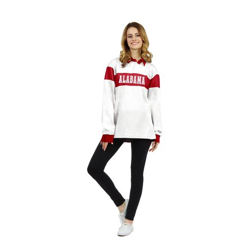 Chicka-d Women's University of Alabama Rugby Polo Shirt