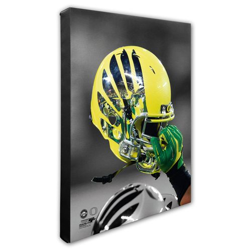 Photo File University of Oregon Helmet Stretched Canvas Photo