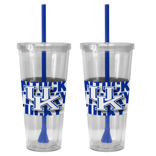 Boelter Brands University of Kentucky Bold Neo Sleeve 22 oz. Straw Tumblers 2-Pack