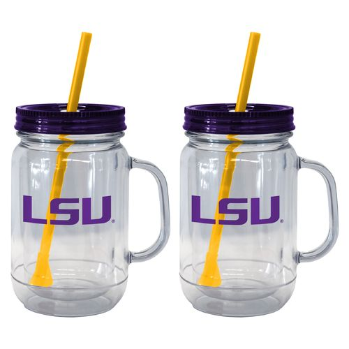Boelter Brands Louisiana State University 20 oz. Handled Straw Tumblers 2-Pack