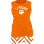 Klutch Apparel Toddlers' Clemson University Chevron Dress