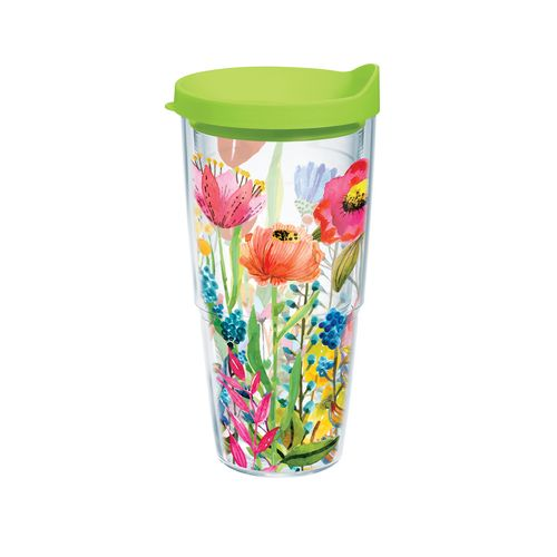 Tervis Watercolor Wildflowers 24 oz. Tumbler with Lid