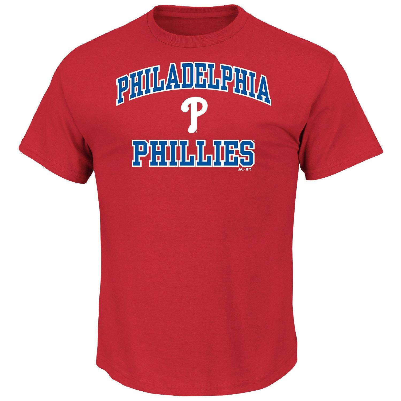 Majestic Men's Philadelphia Phillies Heart and Soul T-shirt