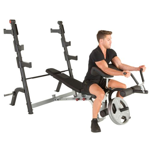 Ironman triathlon x class olympic weight bench with preacher curl and leg developer attachment Academy weight bench