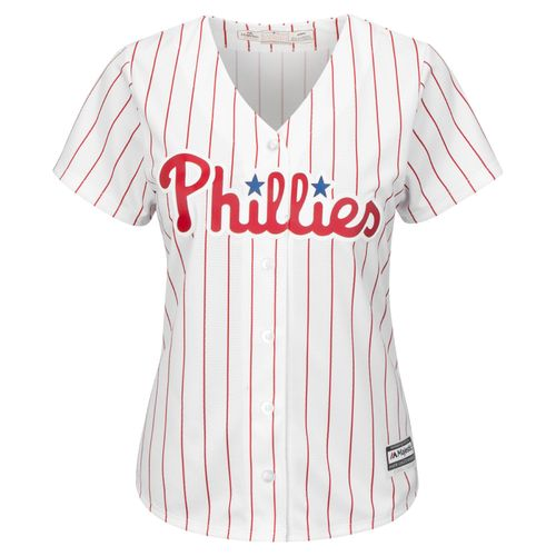 Majestic Women's Philadelphia Phillies Ryan Howard #6 Cool Base® Replica Home Jersey - view number 2