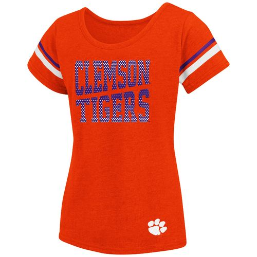 Colosseum Athletics™ Girls' Clemson University Fading Dot T-shirt - view number 1