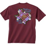 New World Graphics Women's Texas State University Bright Plaid T-shirt