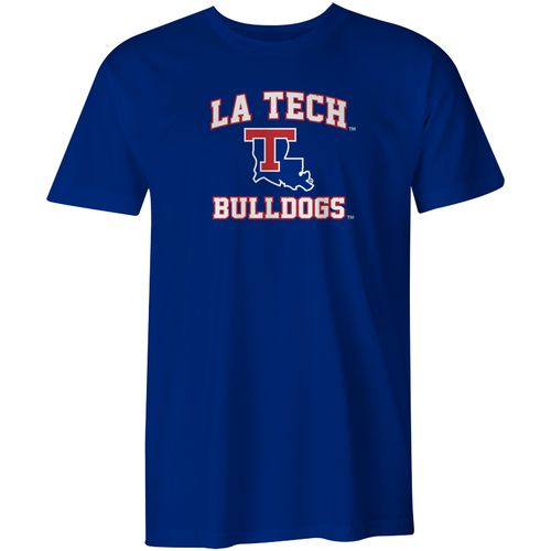 Image One Men's Louisiana Tech University Arch Logo Comfort Color T-shirt