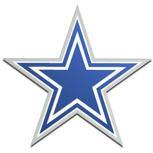 Stockdale Dallas Cowboys Acrylic Metallic Freeform Auto Emblem