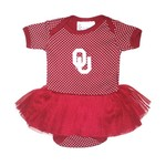 Two Feet Ahead Infant Girls' University of Oklahoma Pin Dot Tutu Creeper