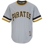 Majestic Men's Pittsburgh Pirates Bill Mazeroski #9 Cool Base Cooperstown Jersey - view number 3