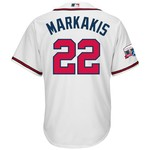 Majestic Men's Atlanta Braves Nick Markakis #12 Cool Base Replica Jersey